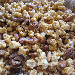 Caramel Corn with Pecans and Almonds