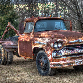 Old Wrecker by Tim Gamble - Transportation Automobiles ( car, old, rusty, antique )