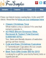 Screenshot of Yo Free Samples Android App