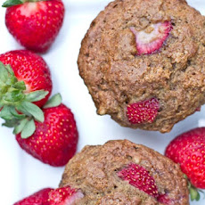Strawberry, Banana, n' Nut Butter Love Muffins