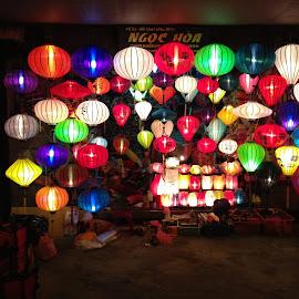 Hanoi Lights by David Cummings - City,  Street & Park  Markets & Shops ( lamps, lights, colors, hanoi, vietnam )
