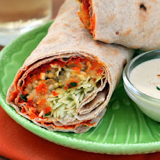Spicy Lentil Wraps with Tahini Sauce