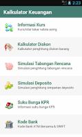 Screenshot of Kalkulator Keuangan