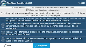Screenshot of TaNaMao PRÓ Jurídico Concursos