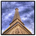 Eiffel tower in the sky icon