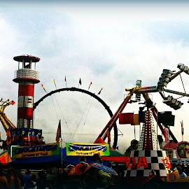WV State Fair !! by Linda Blevins - City,  Street & Park  Amusement Parks