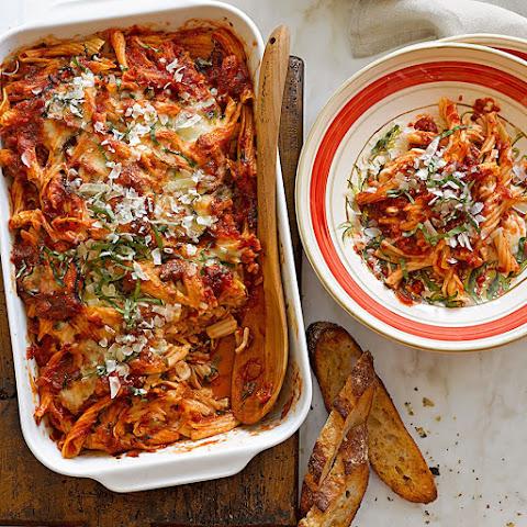 Baked Pasta with Tomato-Basil Sauce Recipe | Yummly