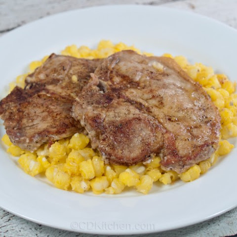 Garlic Pork Steak With Hominy