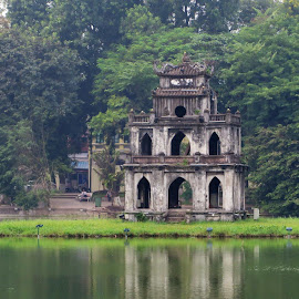 Turtle Tower in Vietnam by April Moncrief - Buildings & Architecture Statues & Monuments