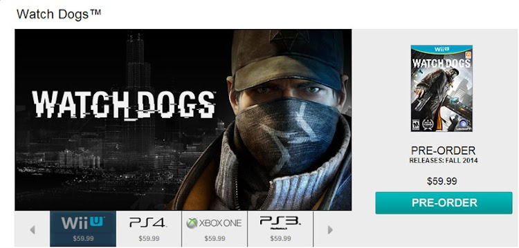 Accidental UPlay listing indicates a release window for Watch Dogs on the Wii U