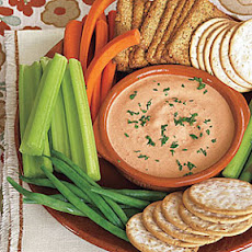 Garlicky Roasted Red Pepper Dip