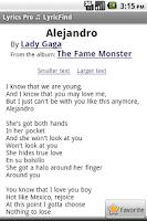 Screenshot of Lyrics Lite ♬ LyricFind