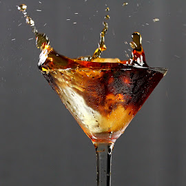 by Dipali S - Food & Drink Alcohol & Drinks ( beverage, cold, coke, splash, drink, brown, pepsi, condense )
