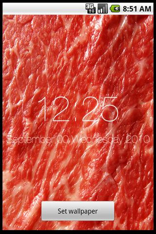 WAGYU Japanese Beef 時計付ライブ壁紙