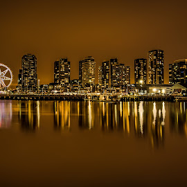 Docklands by Brent Lister - City,  Street & Park  Skylines ( hdr, melbourne, australia, long exposure, docklands )