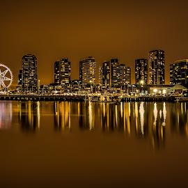 Docklands by Brent Lister - City,  Street & Park  Skylines ( hdr, melbourne, australia, long exposure, docklands )