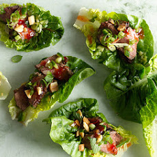 Seared Steak Lettuce Cups