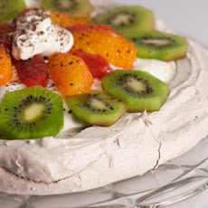 Chocolate Pavlova with Winter Fruit