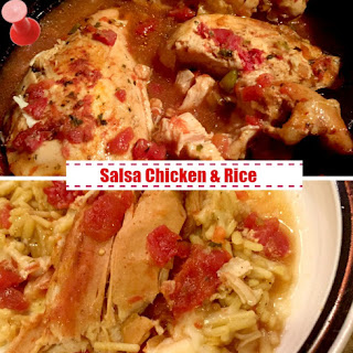 Slow Cooker Salsa Chicken & Rice