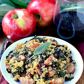 Smoked Sausage, Kale and Cider Quinoa Skillet