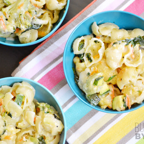 Vegetable Alfredo Pasta Bake