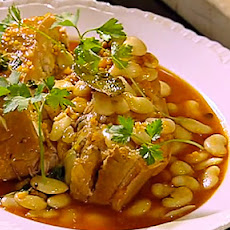 Braised Pork Belly with Butter Beans