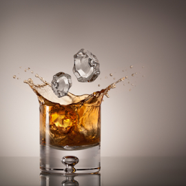 Bourbon Splash by Keith Lucas - Food & Drink Alcohol & Drinks ( product, studio, splash, burbon )