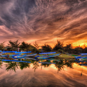 by Ben Bebe - Landscapes Sunsets & Sunrises ( , water, device, transportation )