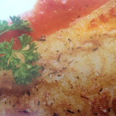 Pan-Seared Cod with Roasted Red Pepper Sauce