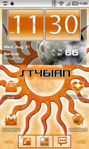 ADW theme Stygian Orange