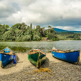 A day on the Lake by Janet Packham - Transportation Boats ( water, cumbria, tourists, boats, lakes, canoes )