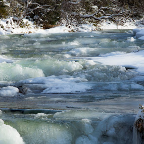 cold river by Benny Høynes - Nature Up Close Water ( winter, cold, ice, river, norway )