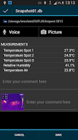 Screenshot of FLIR Tools Mobile