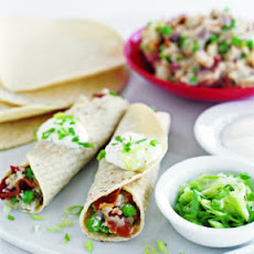 Roll-Ups with Bacon, Peas, and New Potatoes
