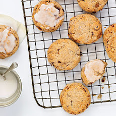 Toasted Almond and Cherry Scones