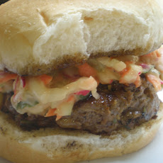 Bulgogi Burgers with Asian Slaw