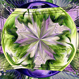 Framed Invert by Tina Dare - Digital Art Abstract ( abstract, designs, framed, inverted, shapes )