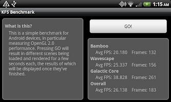 Screenshot of KFS OpenGL Benchmark