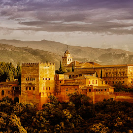 Al Hambra Palace by Monique Sjarief - Landscapes Mountains & Hills