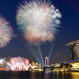 fireworks  by Supriadi Lee - City,  Street & Park  Night (  )