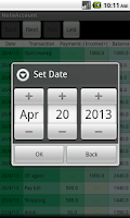 Screenshot of NoteAccount - Managing Money