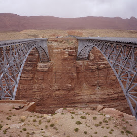 Navajo Bridge by Jim Czech - Buildings & Architecture Bridges & Suspended Structures ( colorado river, cliffs, navajo bridge, canyon, bridge )