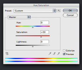 Hue Saturation Panel