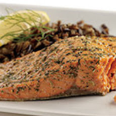 Salmon with Dill, Fennel and Lemon Rub