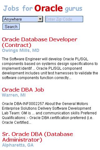 Jobs For Oracle Gurus