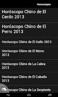 Screenshot of Horoscopo Chino 2013