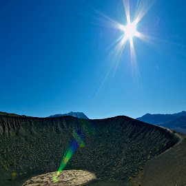 Ubeube Crater Light form by Jim Downey - Landscapes Deserts ( death valley, little crater, ubeube crater, sigma, abberation )