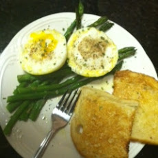 Heavenly Poached Eggs ovah Asparagus