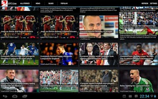 Screenshot of LFC Live - Liverpool FC News