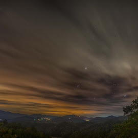Nighttime over the Smokies by Drew Campbell - Landscapes Mountains & Hills ( smoky mountains )